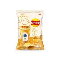乐事-烤布蕾奶茶味薯片/65克