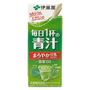 伊藤园-豆乳大麦叶饮料/200毫升