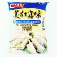 味全-韭菜鲜虾水饺/595克