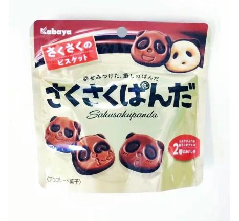 彩屋-熊猫巧克力饼干/47克