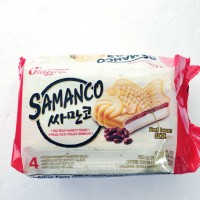 binggrae-红豆味冰淇淋汉堡/4个装